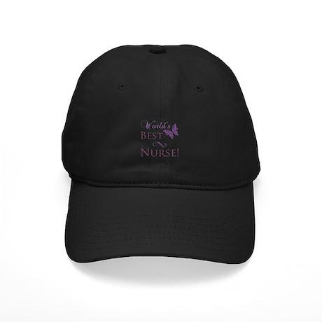 World's Best Nurse Black Cap
