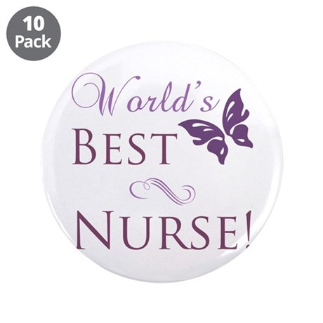 "World's Best Nurse 3.5"" Button (10 pack)"