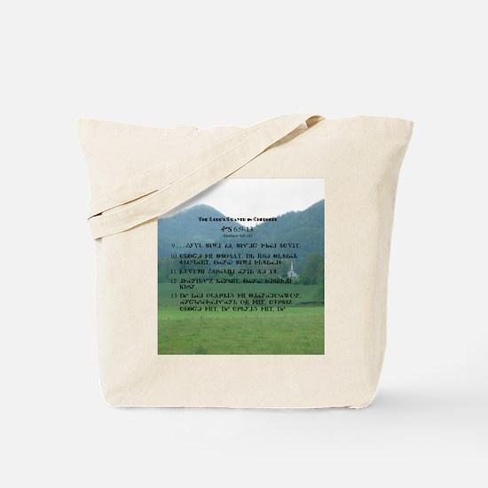 English & Cherokee Lord's Prayer Tote Bag
