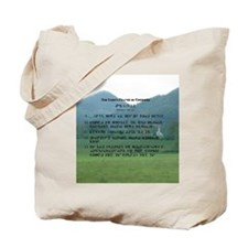 English & Cherokee Lord's Prayer Tote Bag