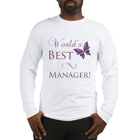 World's Best Manager Long Sleeve T-Shirt