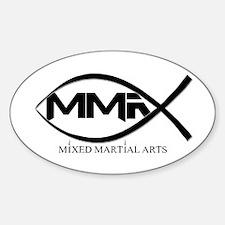 MMA Fish Sticker (Oval)