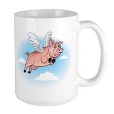 When Pigs Fly Happy Piggy Mug