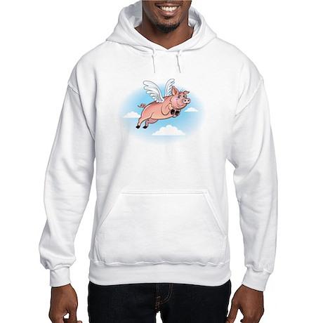 When Pigs Fly Happy Piggy Hooded Sweatshirt