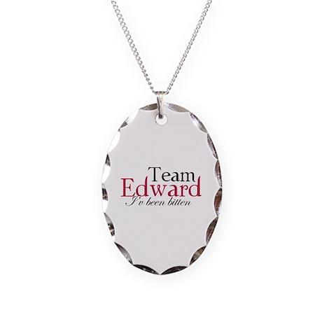 Team Edward Necklace Oval Charm