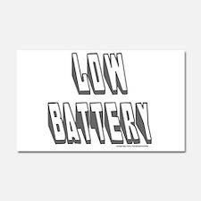 LOW BATTERY Car Magnet 20 x 12