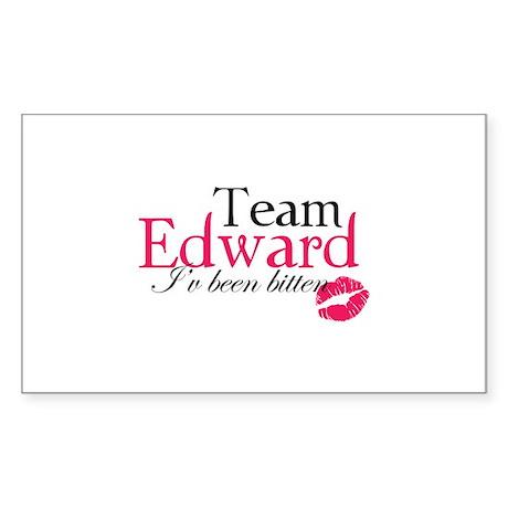 Team Edward Sticker (Rectangle)