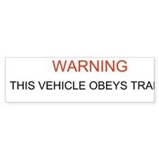 Obeys traffic laws bumper sticker