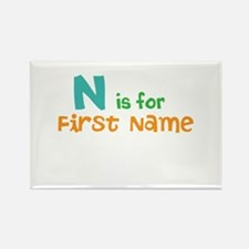 """""""Baby's Name and Initial Here"""" Rectangle Magnet"""