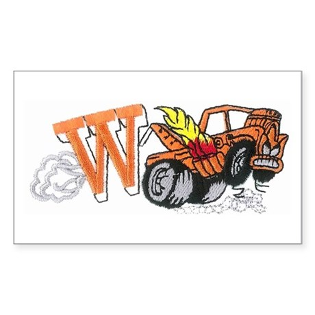 Weatherly Wrecker Sticker (Rectangle)