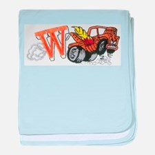 Weatherly Wrecker baby blanket