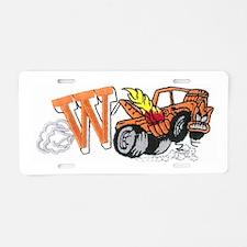 Weatherly Wrecker Aluminum License Plate