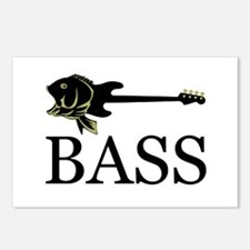 Cute Bass guitar Postcards (Package of 8)