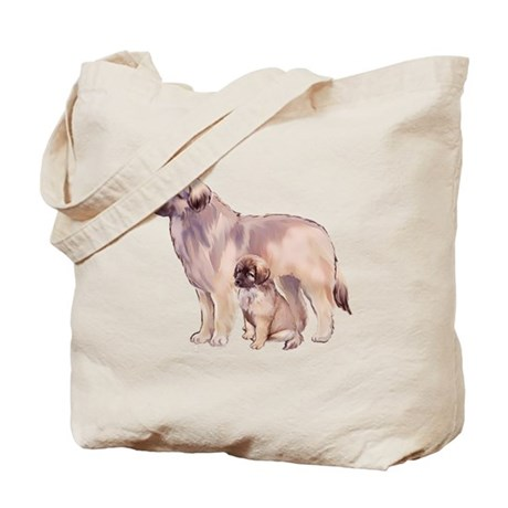 Leonberger mother and puppy Tote Bag