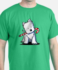 Candy Cane Westie T-Shirt