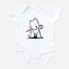 Candy Cane Westie Infant Bodysuit