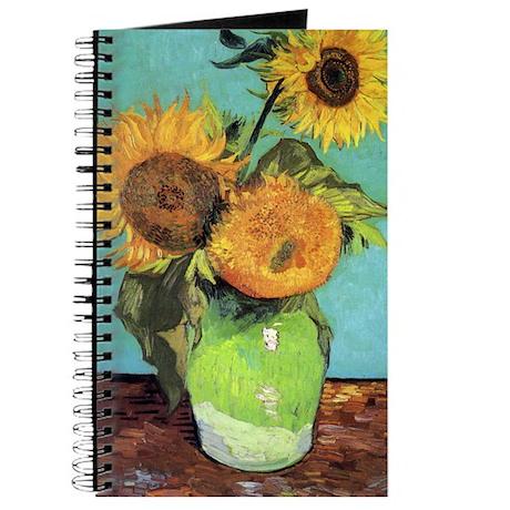 Van Gogh - Three Sunflowers Journal