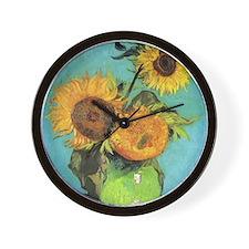 Van Gogh - Three Sunflowers Wall Clock