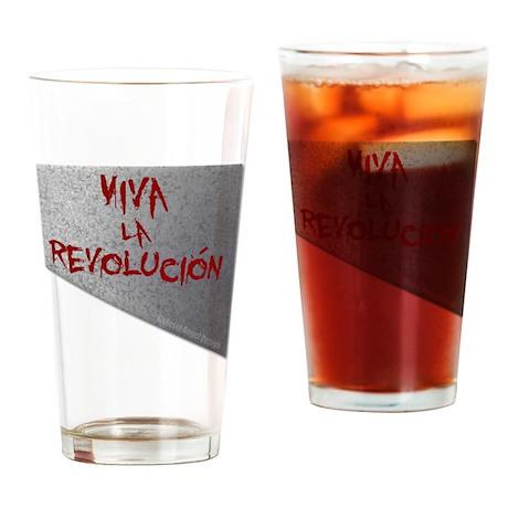 Viva la Revolucion Drinking Glass