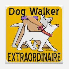 Professional Dog Walker Tile Coaster