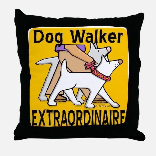 Professional Dog Walker Throw Pillow