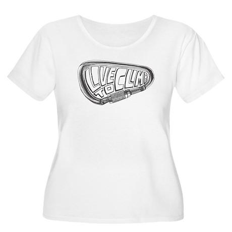 Live to Climb Women's Plus Size Scoop Neck T-Shirt