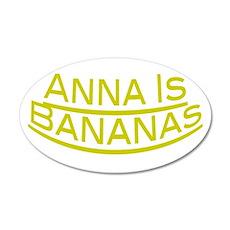 Anna Is Bananas 38.5 x 24.5 Oval Wall Peel