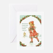 Unique Little girl Greeting Card