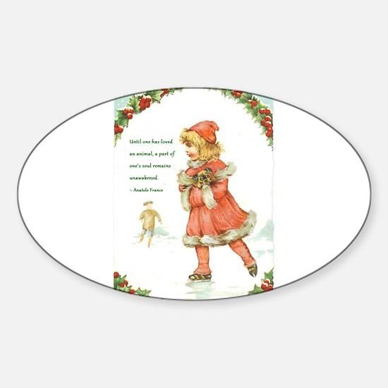 Unique Little christmas Sticker (Oval)