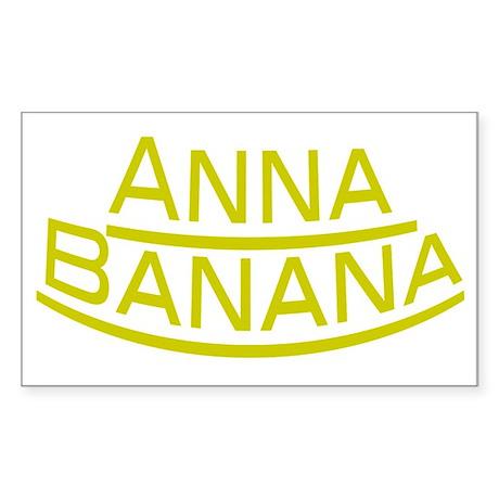 Anna Banana Sticker (Rectangle)