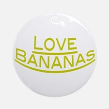 Love Bananas Ornament (Round)