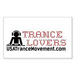 Trance Lovers Sticker (Rectangle)