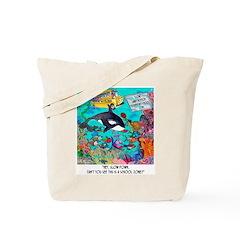 Whale In A School Zone Tote Bag