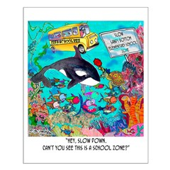Whale In A School Zone Posters