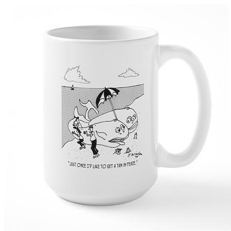 Whale Getting A Tan In Peace Large Mug