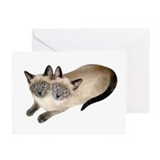 Siamese Twins Greeting Cards (Pk of 10)