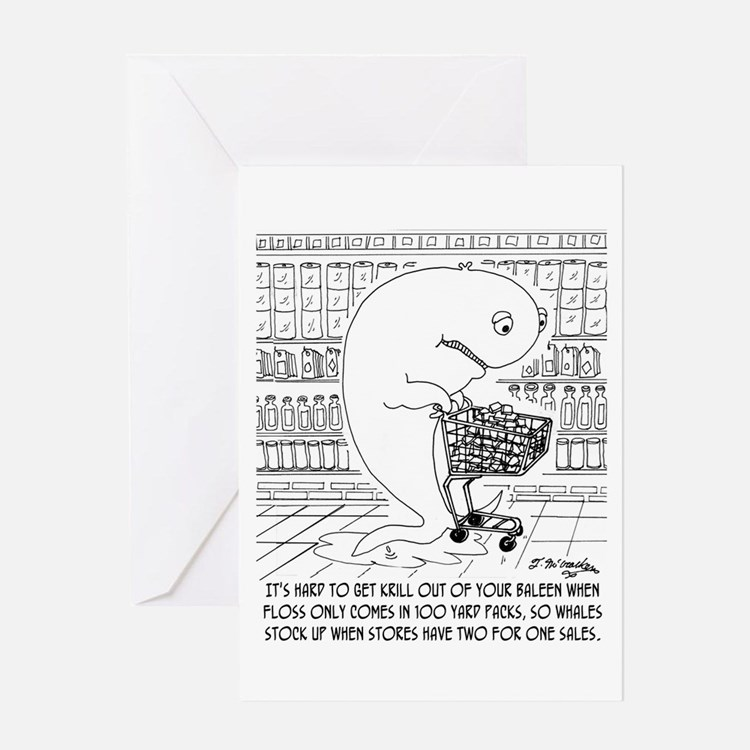Whale Floss Greeting Card