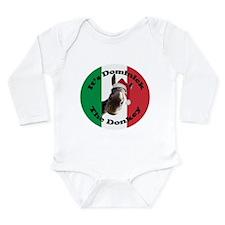 It's Dominick! (round) Long Sleeve Infant Bodysuit