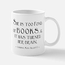 Louisa May Alcott Too Many Books Mug