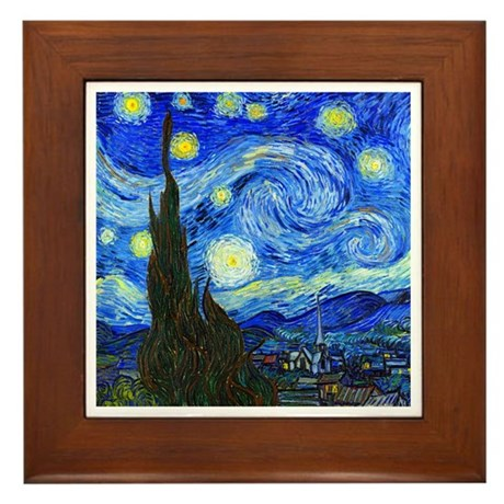 Van Gogh - Starry Night Framed Tile