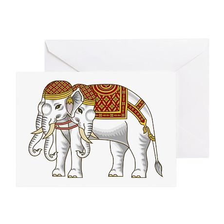 Thai Erawan White Elephant Greeting Card