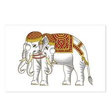 Thai Erawan White Elephant Postcards (Package of 8