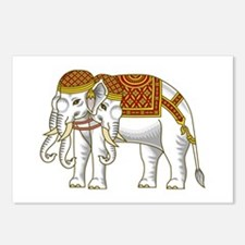 Thai Erawan White Elephant Postcards (Package of 8