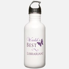 World's Best Librarian Water Bottle
