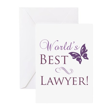 World's Best Lawyer Greeting Cards (Pk of 10)