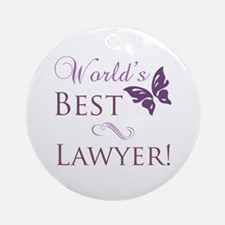 World's Best Lawyer Ornament (Round)