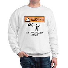 Warning Honey Badger Sweatshirt