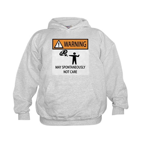 Warning Honey Badger Kids Hoodie