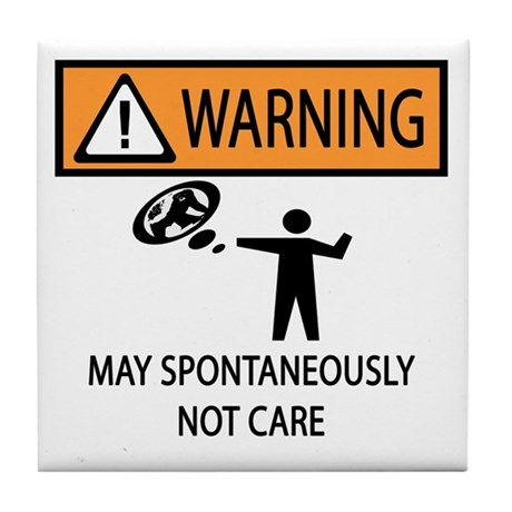 Warning Honey Badger Tile Coaster