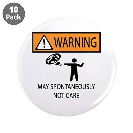 "Warning Honey Badger 3.5"" Button (10 pack)"